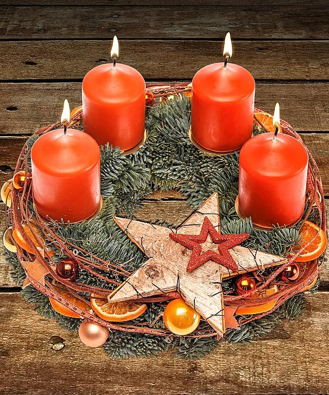 adventskranz merry christmas und gratis xmas countdown jetzt bestellen bei valentins. Black Bedroom Furniture Sets. Home Design Ideas